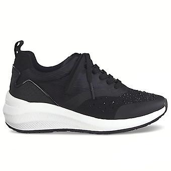 Tamaris Fashletics Black Sneaker met steentjes