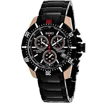 Roberto Bianci Men-apos;s Fontana Black Dial Watch - RB18763