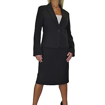 Women's Smart Fully Lined Washable Lightweight 2 Piece Blazer Skirt Suit Formal Office Event Business 10-18