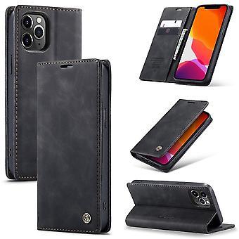 CASEME Wallet Case iPhone 12 Pro Max - Musta