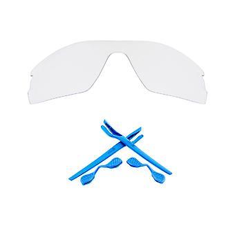 استبدال العدسات & كيت ل أوكلي الرادار EV الملعب واضحة والتبديل الأزرق المضادة للخدش المضادة للوهج UV400 من قبل SeekOptics
