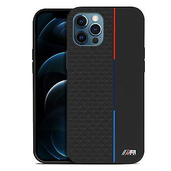 Funda iPhone 12 Pro Max Protectora de BMW Colección Triangular - Negro