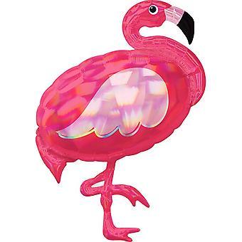 Anagram schillernde Flamingo Supershape Folie Ballon