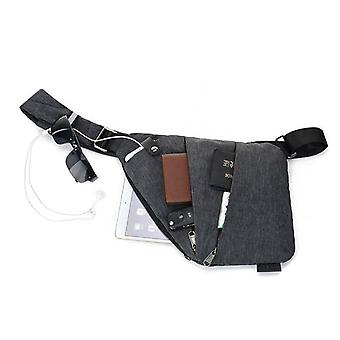 Men Personal Close-fitting Messenger Bag Waterproof Nylon Versatile Travel