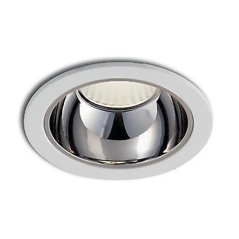 Fan Europe Lander - Integrierte LED Aluminium Downlight Blendschutz, Chrom, 4000K