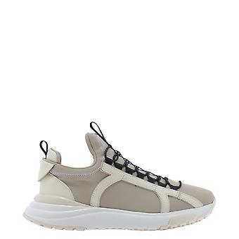 Salvatore Ferragamo 723753 Women's Beige Polyester Sneakers
