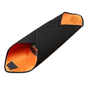 Hundred-folding Cloth Photography Camera SLR Liner Lens Bag Thickening Wrapped Cloth Plus Velvet, Size: 40x40cm (Orange)