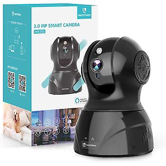 Caméra de surveillance sans fil HeimVision HM302 2K 3MP, PTZ WiFi Home Indoor IP Camera for Baby/Pet/Nanny Monitor, Night Vision, 2 Way Audio, Motion/Face Detection, Works with Alexa