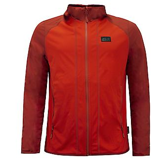 Jack Wolfskin Hydro Hooded Light Jacket Mens Red Track Top 1708631 2066