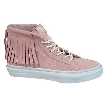 Vans Off The Wall Suede Sk8-Hi Moc Kids Youths Lace Up Trainers 303I3V B39C