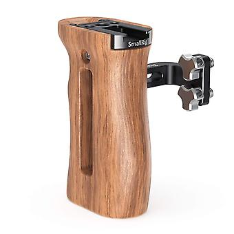 Smallrig wooden handle with threaded holes, adjustable camera cage side grip - 2093