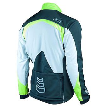 Eigo Bora Windproof Ladies Cycling Jacket Blanc / Noir / Fluoro Jaune