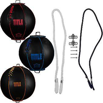 Titel Boxen Retro-Stil Leder Doppel-End-Tasche mit Kabeln