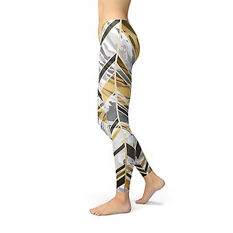 Womens Leggings With Marble Pattern Lines