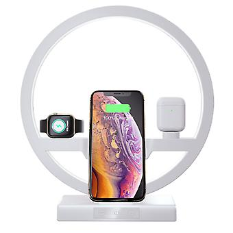 Fast Wireless Charger for Mobile Phones ,Apple iWatch ,AirPods, with LED Light