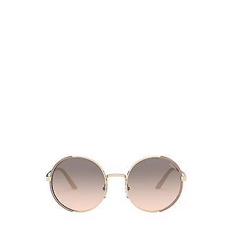 برادا العلاقات العامة 59XS الذهب الشاحب / غير لامع النظارات الشمسية الإناث الوردي