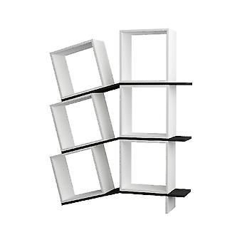 Libreria Balance Colore Bianco, Antracite in Truciolare Melaminico, L115xP25xA147 cm