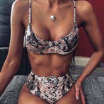 Sneak Printed High Waist Bikini