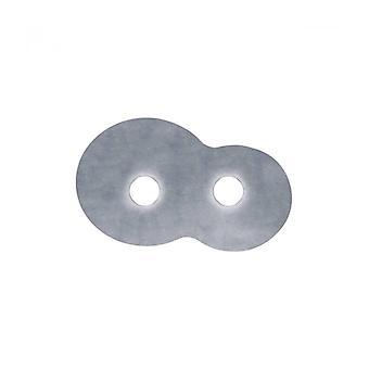 Lámpara De Techo Circle Blanco 2 Bombillas Hoja De Plata