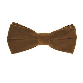 Corbata de terciopelo marrón de pan de jengibre