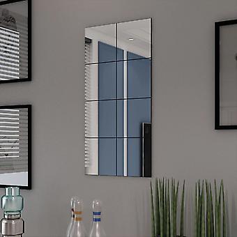 Frameloze spiegeltegels glas 8 stuks 20,5 cm