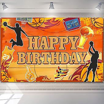 Basketball Happy Birthday Backdrop Basketball Themed Photography Background Sports Theme Birthday