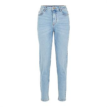 Pieces Womens Kesia Mom Jeans Slim Pockets Trousers Pants Bottoms