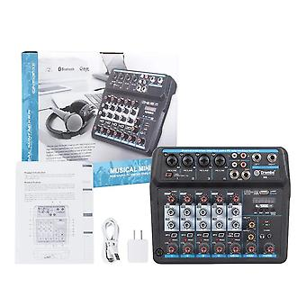 Protable Mini Mixer Audio Dj Console With Sound Card