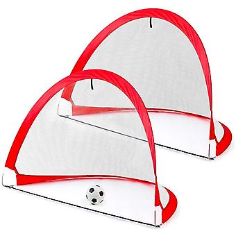 Football Goal Posts for Kids Indoor Outdoor Football Set with Foldable Carry Bag, Garden Goal Target