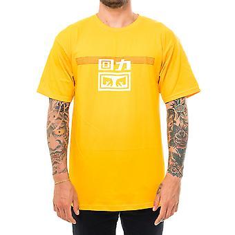 Warrior x obey lines tee men's T-shirt 163082172e.gold