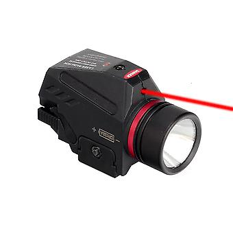 Magorui Tactical 150 Lumens Led Flashlight And Red / Green Laser Sight Combo