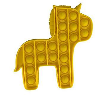 Pony vorm bubble stress push bubble unzip speelgoed voor autisme kind