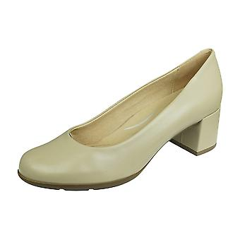 Geox D N Annya M A Womens Slip On Leather Heels / Shoes - Taupe