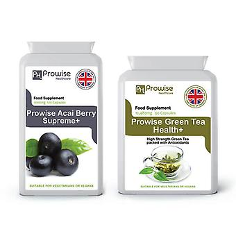 Acai Berry + Green Tea | Suitable For Vegetarians & Vegans | Made In UK by Prowise