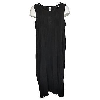 MarlaWynne Plus Dress Pleated Knit Dress Black 655546