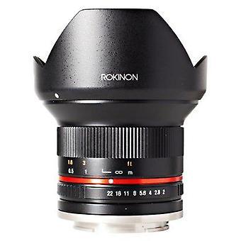 Rokinon 12mm f2.0 ncs cs ultra laajakulmalinssi - fujix mount digitaalikamerat(musta)(rk12m-fx)-kiinteä