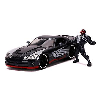 Marvel Comics - Venom 2008 Dodge Viper Urheiluauto Die-cast ajoneuvo ja metallihahmo