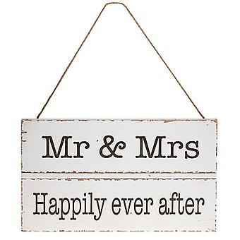 Homestyle Hanging Wood Plaque Mr & Mrs