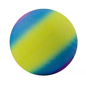 9 In Rainbow Playground Ball , Kids Toy Ball(Yellow)