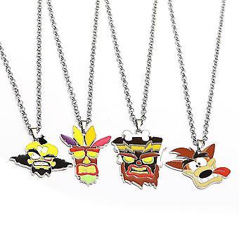 4pcs Crash Bandicoot Necklace