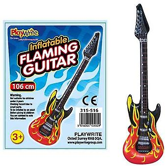 12 Inflatable Flame Guitars 106cm