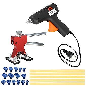 Auto verfloze deuk reparatie tools trekker +15 stuks lijm tabs +110-240v 40w hot melt gun w / 5pcs sticks