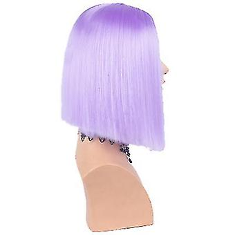 European And American Wigs Women's  Suitable For Christmas Role Playing(Purple)