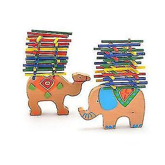 Väri stick peli puinen tasapaino palkki pinoaa korkea lasten koulutus lelut (kameli)