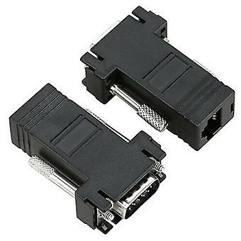 VGA Male to Network Adaptor Extinde video prin Rețeaua Cat5e Ethernet RJ45 VGA
