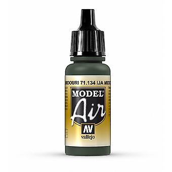 Vallejo Model Air 134 IJA Midouri Green - 17ml Acrylic Airbrush Paint