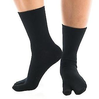 Black Solid Flip Flop Tabi Socks