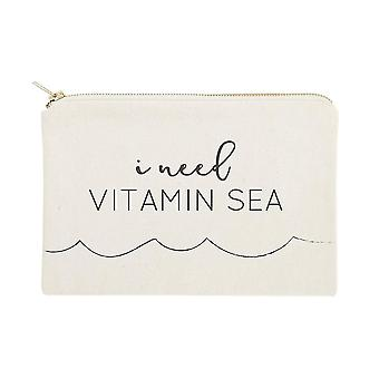 ビタミン海綿キャンバスコスメティックバッグが必要