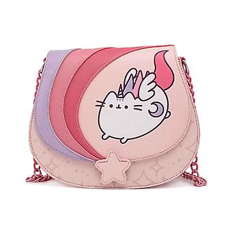 Loungefly Crossbody Bag Pusheen Unicorn Ombre Chain Strap new Official Pink