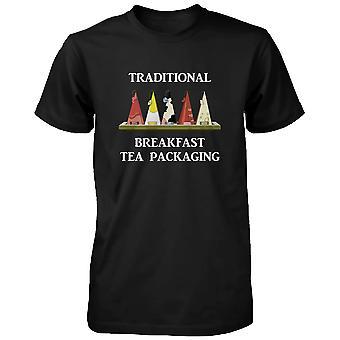 Traditionell frukost te förpackning Humor T-Shirt roliga mössan för män rolig skjorta